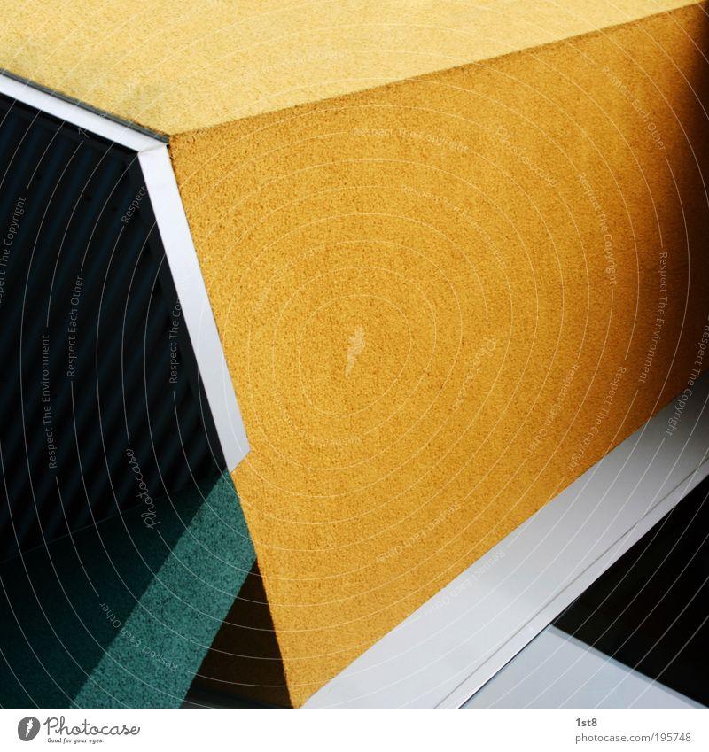 drei Dreiecke unter Fremden Farbe Haus Fenster gelb Wand Architektur Gebäude Mauer Fassade Energiewirtschaft Häusliches Leben modern Technik & Technologie Zukunft einfach einzigartig