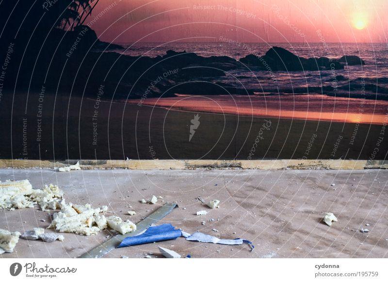 Realitätsverlust Natur Ferien & Urlaub & Reisen Einsamkeit Ferne Leben träumen Landschaft Raum Design Lifestyle Tourismus Ziel Dekoration & Verzierung Müll