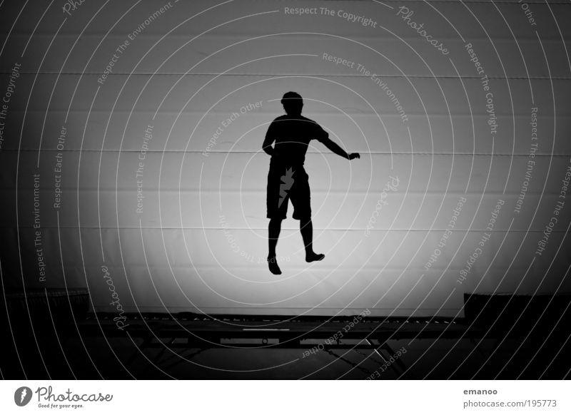 mid air Mensch Jugendliche Freude schwarz springen Bewegung Tanzen Körper Erwachsene maskulin fliegen Coolness Freizeit & Hobby Fitness einzigartig