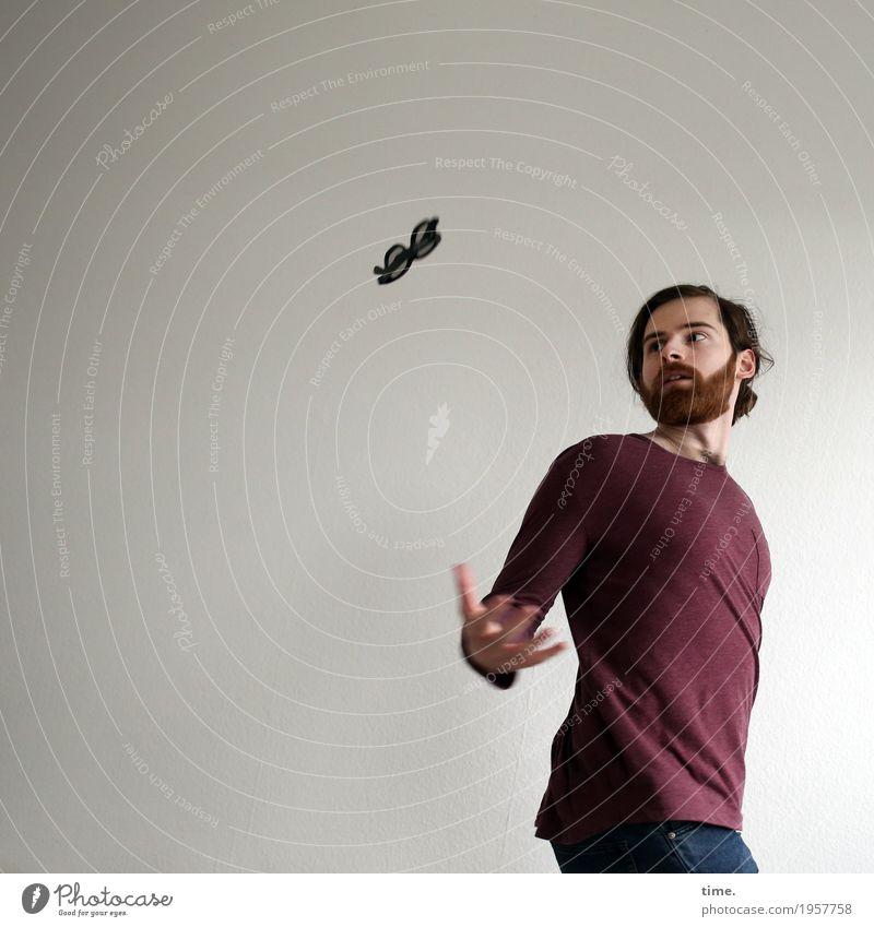 . Mensch Mann Erwachsene Bewegung Sport Kunst fliegen maskulin ästhetisch Kreativität Perspektive Geschwindigkeit Idee beobachten Wandel & Veränderung Brille