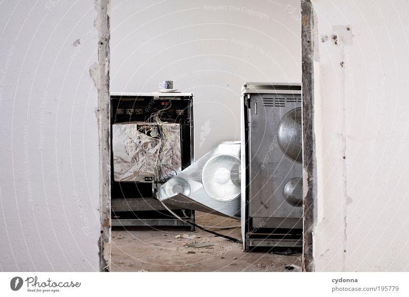 Letzter Kaffee ruhig Einsamkeit Leben Wand Stil träumen Mauer Raum Tür Zeit Lifestyle Ende Wandel & Veränderung Vergänglichkeit Innenarchitektur Umzug (Wohnungswechsel)