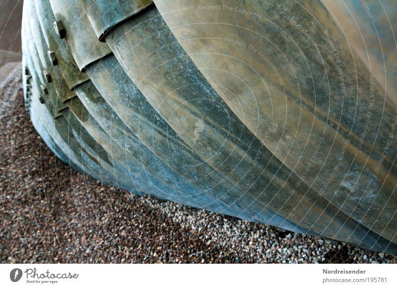 """""""Wüstenwurm"""" geschraubte Ausführung Sand Stein Metall Arbeit & Erwerbstätigkeit Kraft Angst Energie Industrie bedrohlich Baustelle außergewöhnlich"""