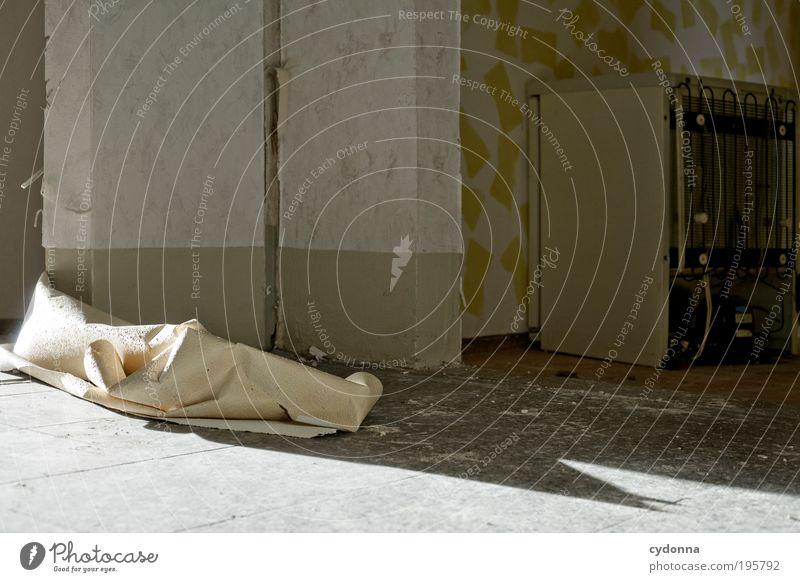 Abgestellt Lifestyle Stil heimwerken Häusliches Leben Renovieren Umzug (Wohnungswechsel) Innenarchitektur Tapete Raum Mauer Wand Tür Einsamkeit