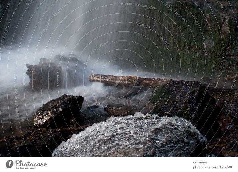 Eisregen Winter Umwelt Natur Wasser Wassertropfen Nebel Regen Frost Moos Berge u. Gebirge kalt Wasserfall fallen Bach Fluss Gewässer Eiskristall Felsen Stein