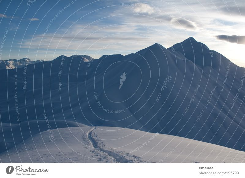 Hochtour Natur Wasser Winter Landschaft kalt Schnee Sport Berge u. Gebirge Eis Wetter Klima wandern Frost Skifahren Alpen Spuren