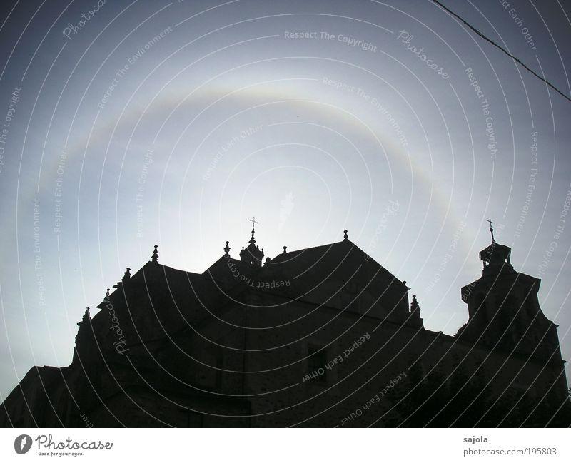 frohe ostern! Himmel Wetter Europa ästhetisch Kirche Klima Physik Dorf leuchten Spanien Wahrzeichen Sehenswürdigkeit Halo Naturphänomene