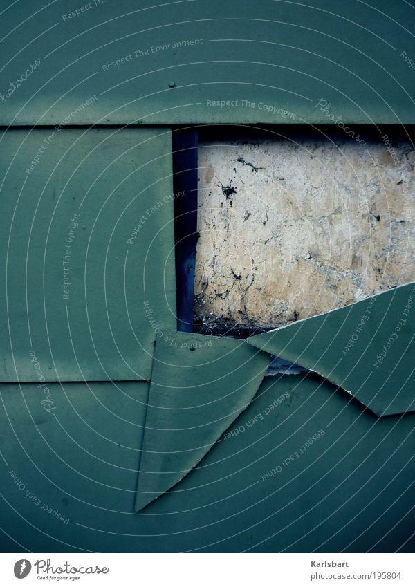 crush. Haus Wand Architektur Gebäude Mauer Linie Arbeit & Erwerbstätigkeit Fassade Design kaputt Lifestyle Baustelle Wandel & Veränderung Häusliches Leben Vergänglichkeit Bauwerk