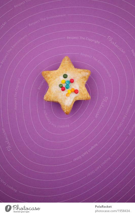 #A# Weihnachts..Äh..Dings Kunst ästhetisch Weihnachtsstern Backwaren Weihnachten & Advent Anti-Weihnachten Streusel violett backen Farbfoto mehrfarbig
