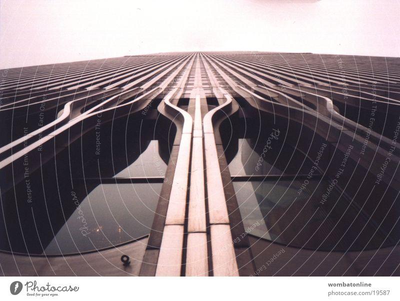 Als sie noch da waren... Fassade Hochhaus World Trade Center New York City New York State Architektur modern Strukturen & Formen Hochhausfassade aufwärts