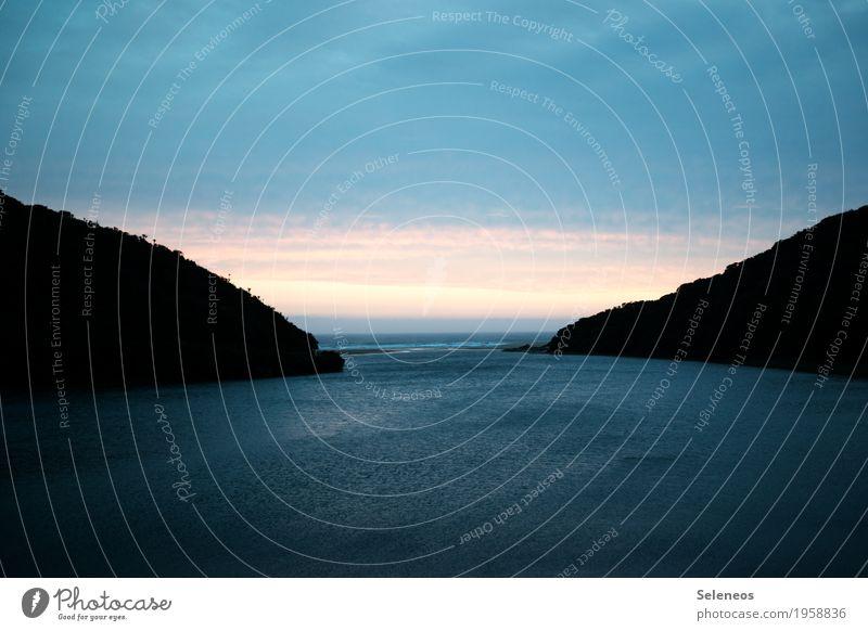 Guten Morgen Himmel Natur Ferien & Urlaub & Reisen Wasser Sonne Landschaft Meer Erholung Wolken ruhig Ferne Strand Umwelt Küste Freiheit Tourismus
