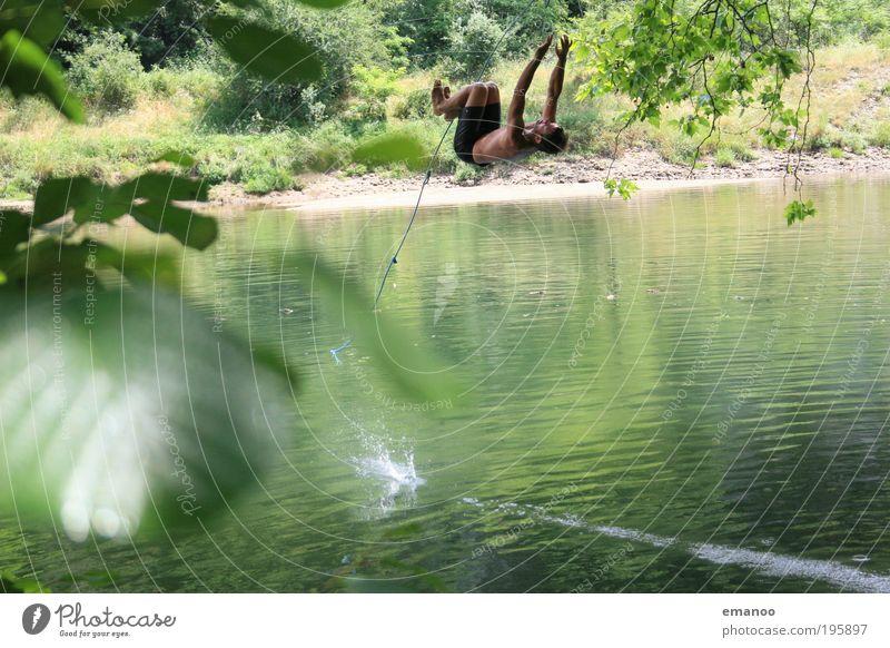swing flip Mensch Natur Jugendliche Ferien & Urlaub & Reisen Sommer Freude Erwachsene Landschaft Freiheit Stil Freizeit & Hobby fliegen maskulin Abenteuer