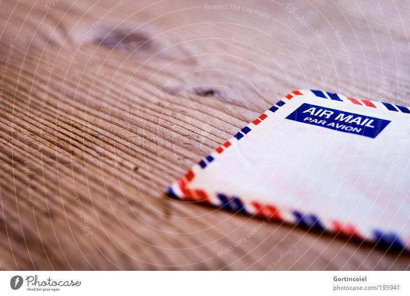 Air Mail Ferne Holz retro Kommunizieren Information Kontakt Streifen schreiben Brief Post Freundschaft Briefumschlag international global senden Licht