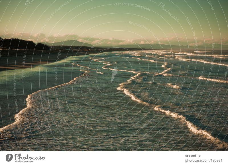 New Zealand IV Umwelt Natur Landschaft Erde Sand Wasser Himmel Wolken Hügel Felsen Berge u. Gebirge Wellen Küste Meer Pazifik ästhetisch außergewöhnlich