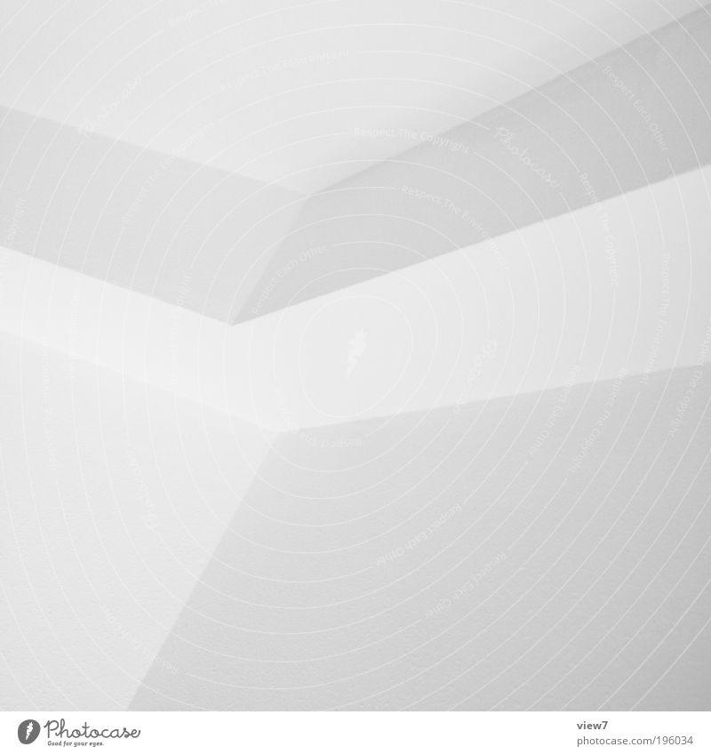 w1 weiß Ferne Wand oben Stein Mauer Linie planen blond Design Beton Fassade frisch Perspektive Ordnung ästhetisch
