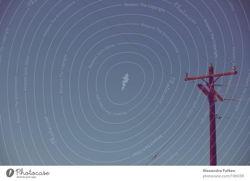 Callcenter II Holz hoch Perspektive Kommunizieren Elektrizität Technik & Technologie Telekommunikation Netzwerk USA Medien Verbindung Amerika Strommast