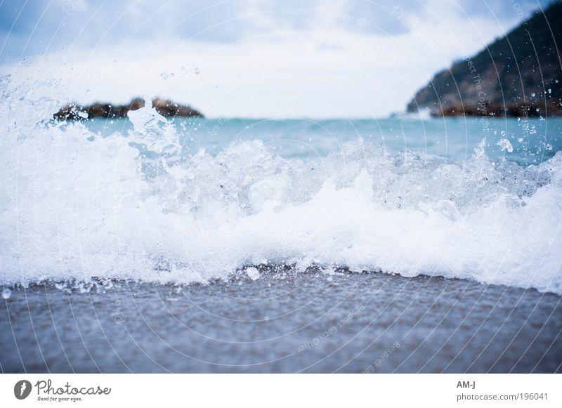 Sparkling Himmel Natur blau weiß grün Meer Strand grau Sand Küste Horizont Zufriedenheit Wellen tauchen Bucht entdecken