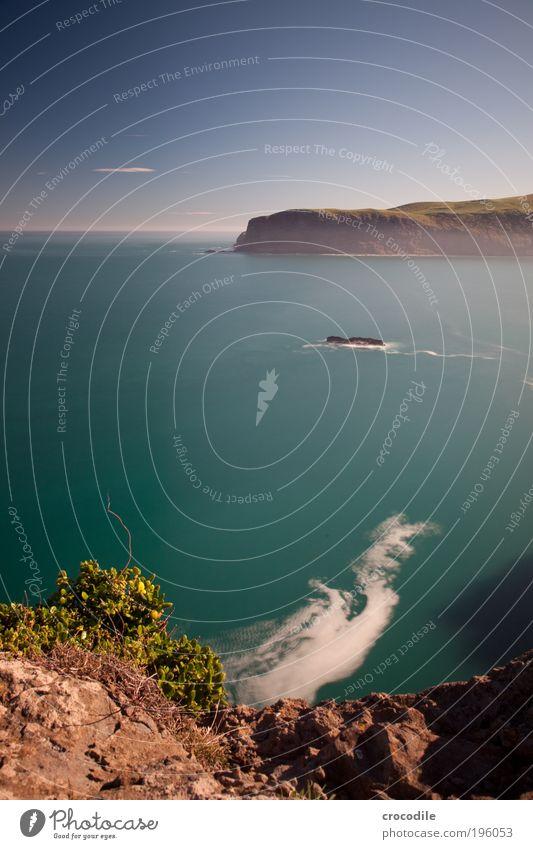 New Zealand XX Umwelt Natur Landschaft Urelemente Erde Sand Wasser Himmel Wolken Klima Schönes Wetter Pflanze Sträucher Hügel Felsen Wellen Küste Bucht Fjord