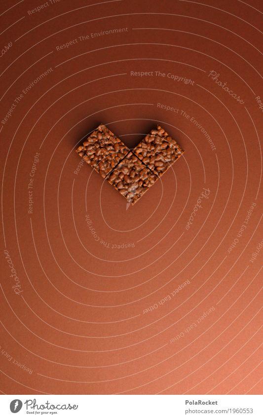 #A# Choco Lover Liebe Kunst braun Ernährung Ordnung Kreativität Herz lecker Appetit & Hunger Schokolade Kunstwerk gestalten Snack ungesund Kalorie Bildpunkt