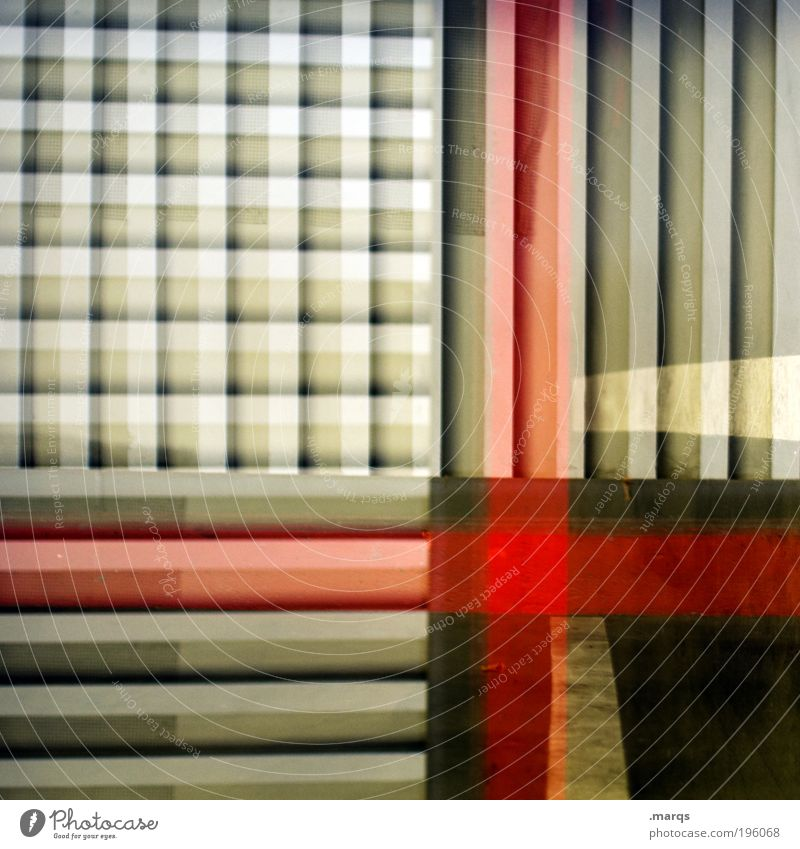 Intensify Stil Design Linie Streifen außergewöhnlich Coolness eckig trashig verrückt grau rot schwarz verstört bizarr chaotisch Farbe Idee skurril