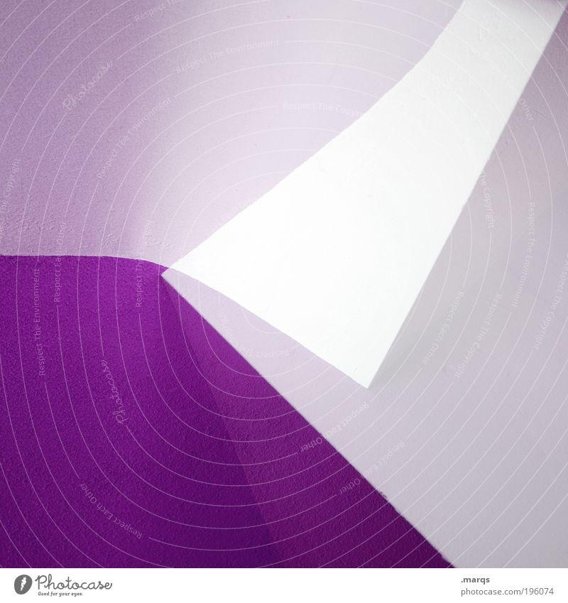 e Lifestyle elegant Stil Design Innenarchitektur Architektur Mauer Wand Linie außergewöhnlich eckig einfach trendy modern Sauberkeit violett weiß Farbe Idee