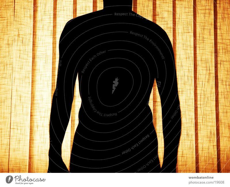 Corpus delicti Mann Oberkörper Fenster Rettungsring Mensch Körper Schatten Silhouette