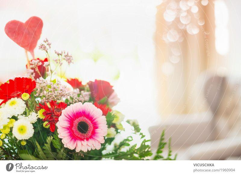 Blumenstrauß mit Herz Stil Design Häusliches Leben Dekoration & Verzierung Raum Party Veranstaltung Feste & Feiern Valentinstag Muttertag Geburtstag Natur