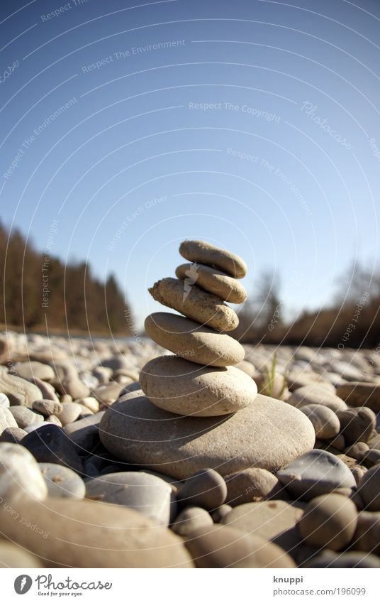Stein auf Stein Natur blau Ferien & Urlaub & Reisen Sommer ruhig Erholung Umwelt Landschaft Freiheit Garten Erde Luft Kraft warten wandern