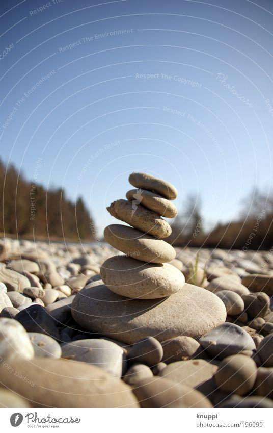 Stein auf Stein Wellness Wohlgefühl Erholung ruhig Handarbeit Freiheit wandern Garten Umwelt Natur Landschaft Luft Wolkenloser Himmel Sommer Schönes Wetter