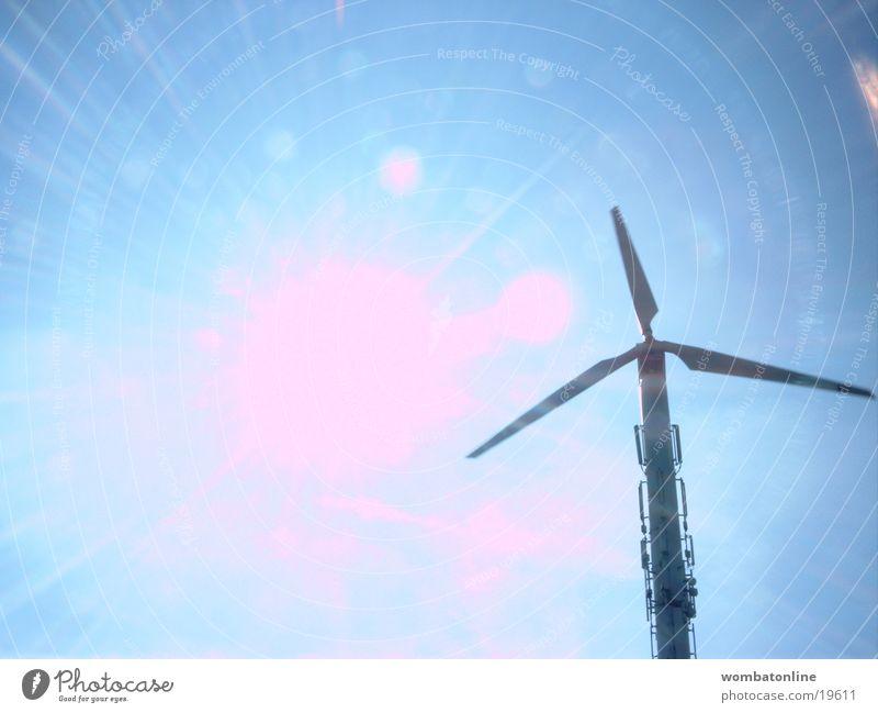 Giganten Propeller Windkraftanlage Licht Sonnenenergie Wissenschaften Energiewirtschaft regenerativ