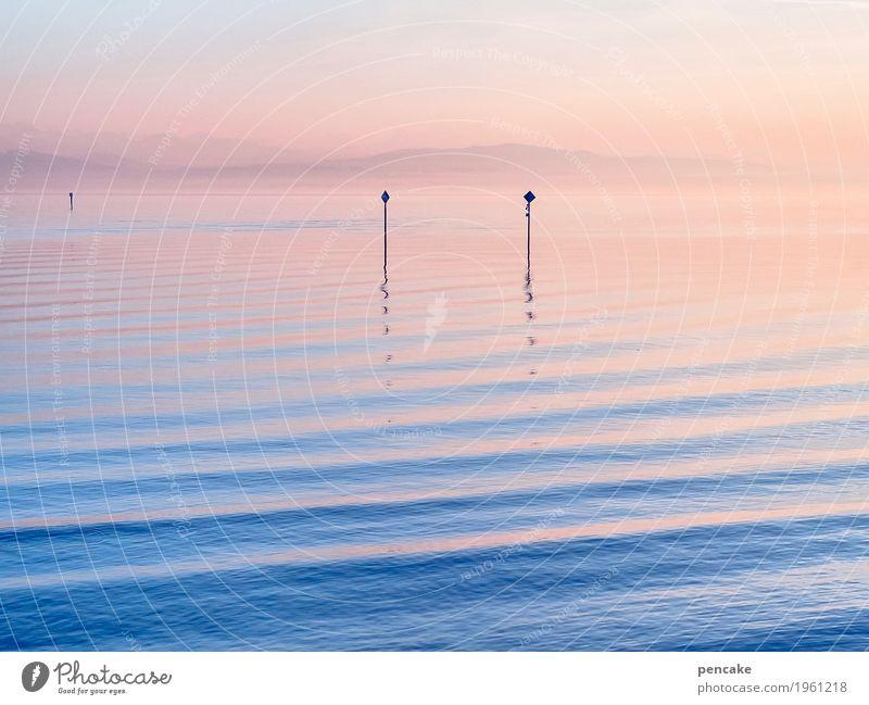 good | vibration Himmel Natur Wasser Landschaft Küste Stimmung Zusammensein 2 Wellen Schönes Wetter weich Urelemente Unendlichkeit Seeufer Alpen maritim