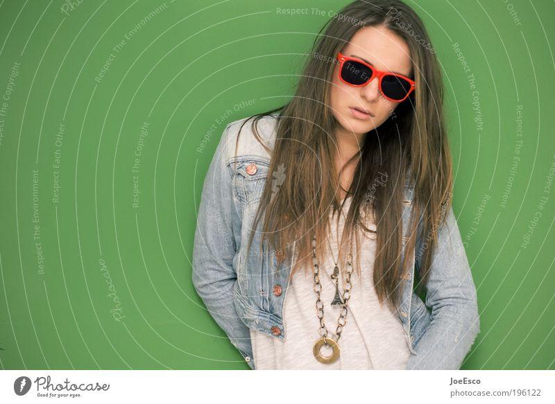 sunglasses at night Lifestyle Stil schön Gesicht Nachtleben Feste & Feiern Mensch Junge Frau Jugendliche Erwachsene Leben Kopf Mauer Wand Mode T-Shirt Jacke