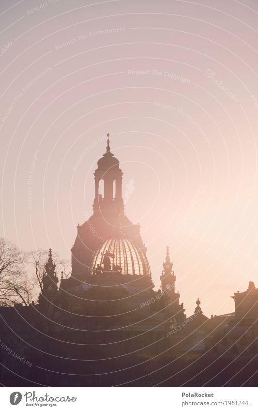 #A# Dresden im Blick III Kunst Kunstwerk ästhetisch Frauenkirche Historische Bauten Akademie der Bildenden Künste Silhouette Romantik verträumt Idylle