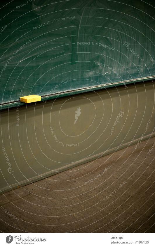 Schwamm drüber Bildung Wissenschaften Schule Tafel Studium Student Hörsaal Urkunde Karriere Erfolg Kommunizieren schreiben braun grün fleißig diszipliniert