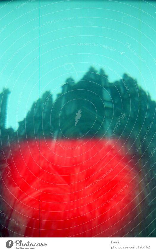 rotdom Farbe Wand Architektur Gebäude Mauer Fassade Tourismus Kirche Turm Bauwerk Ewigkeit Köln Wahrzeichen bizarr Surrealismus