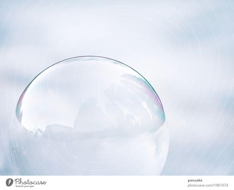 risiko | päng! und es ist vorbei Natur Urelemente Winter Eis Frost Schnee Luftballon Glas ästhetisch Seifenblase Eisblumen Kugel platzen Spannung Farbfoto
