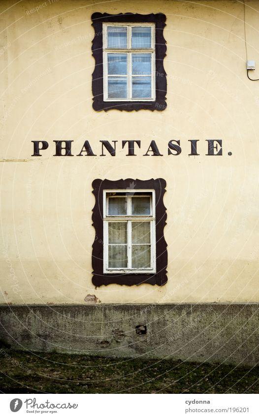Stell' dir vor Lifestyle Stil Design Leben Häusliches Leben Haus Architektur Mauer Wand Fassade Fenster Schriftzeichen anstrengen Bildung einzigartig entdecken