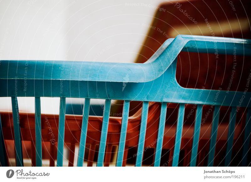 Korbgitter schön weiß blau rot ruhig Haus Zufriedenheit Stimmung leer ästhetisch rund einfach Sauberkeit Kasten Grenze Kunststoff