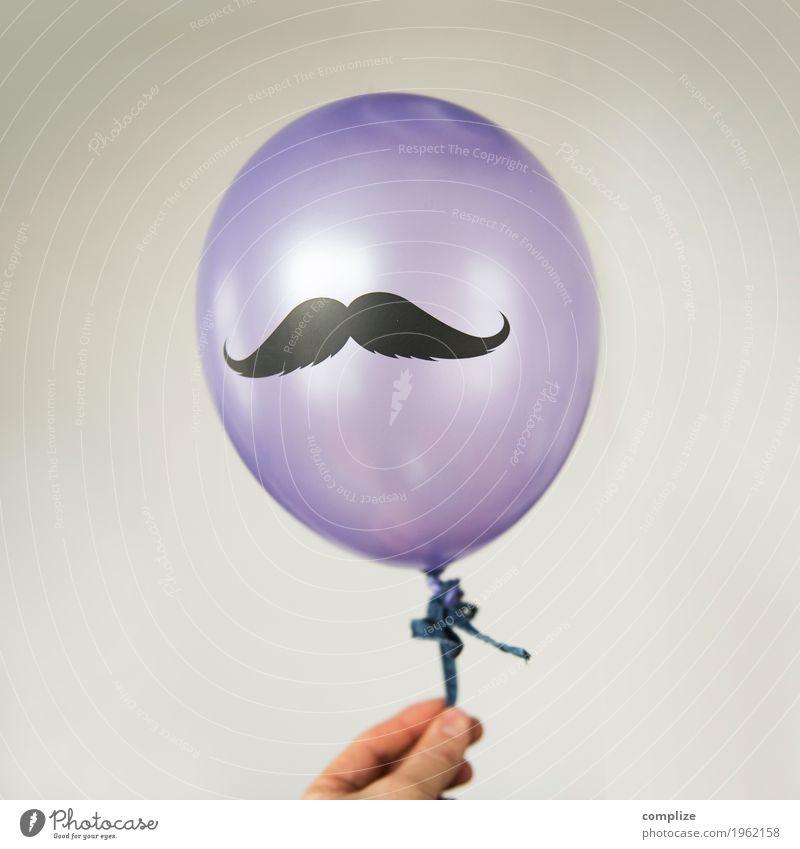 Monsieur Moustache Jugendliche Mann schön Junger Mann Hand Freude Erwachsene Lifestyle Gesundheit Stil Party Feste & Feiern fliegen Design maskulin Musik