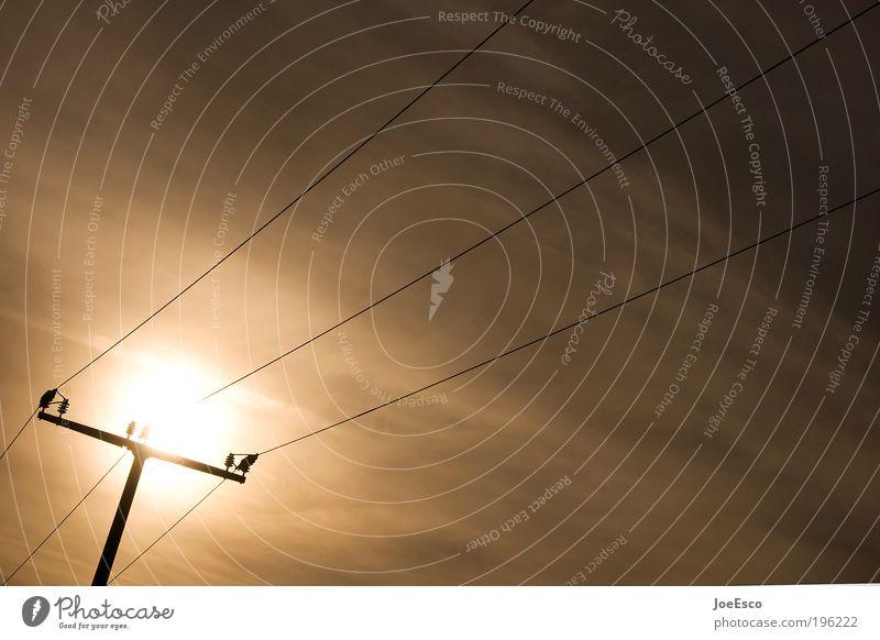 lichtleiter Ferien & Urlaub & Reisen Ausflug Sommer Sonne Energiewirtschaft Telekommunikation Informationstechnologie Energiekrise Himmel leuchten dunkel kalt