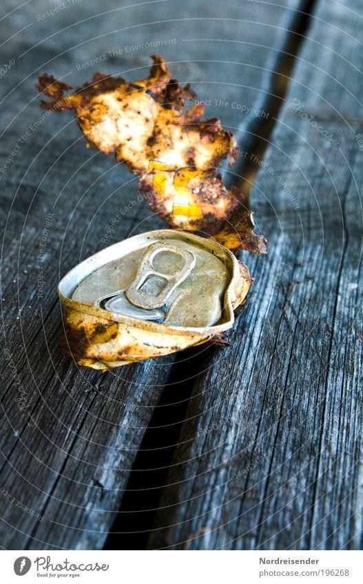 Ausgelutscht.... Natur alt Einsamkeit Metall dreckig trist Erfolg Armut Vergänglichkeit Zeichen Bier Umweltschutz Alkohol Durst Umweltverschmutzung Dose