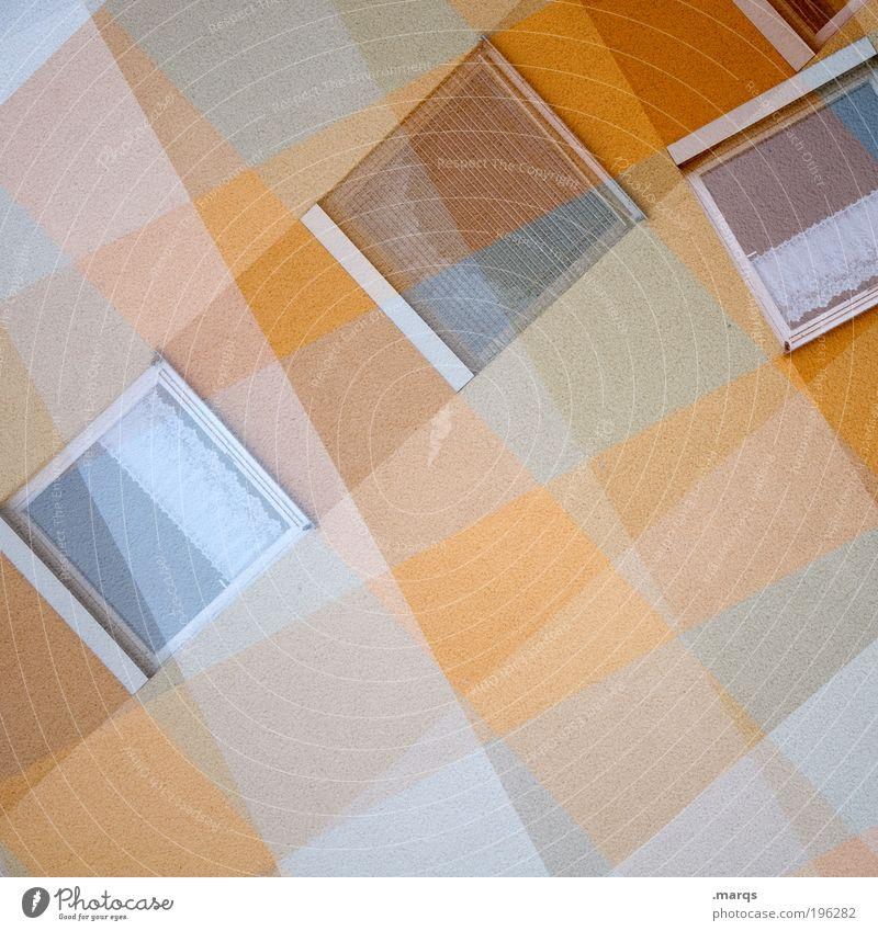 Fensterln Stadt Haus Architektur Gebäude orange Hintergrundbild Autofenster Wohnung Fassade außergewöhnlich verrückt Lifestyle retro einzigartig chaotisch