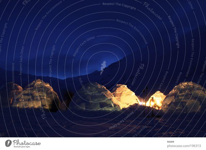 Vorglühen Ferien & Urlaub & Reisen Tourismus Ausflug Expedition Schnee Team Kultur Natur Landschaft Klima Eis Frost Wärme Alpen bauen frieren leuchten kalt