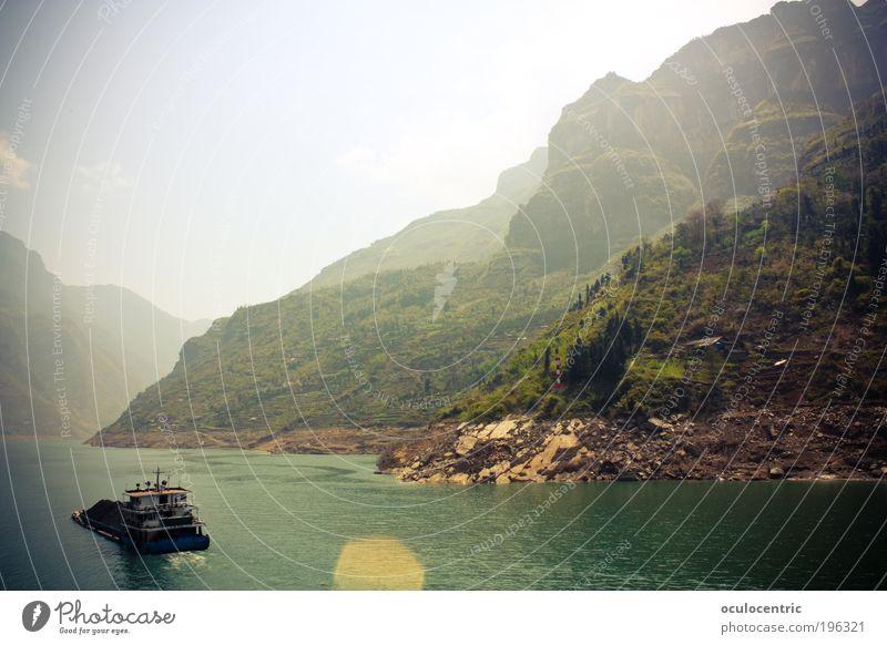 Drei Schluchten Natur Wasser Himmel grün blau Pflanze Sommer Ferien & Urlaub & Reisen Ferne Gras Wärme Landschaft hell groß Felsen