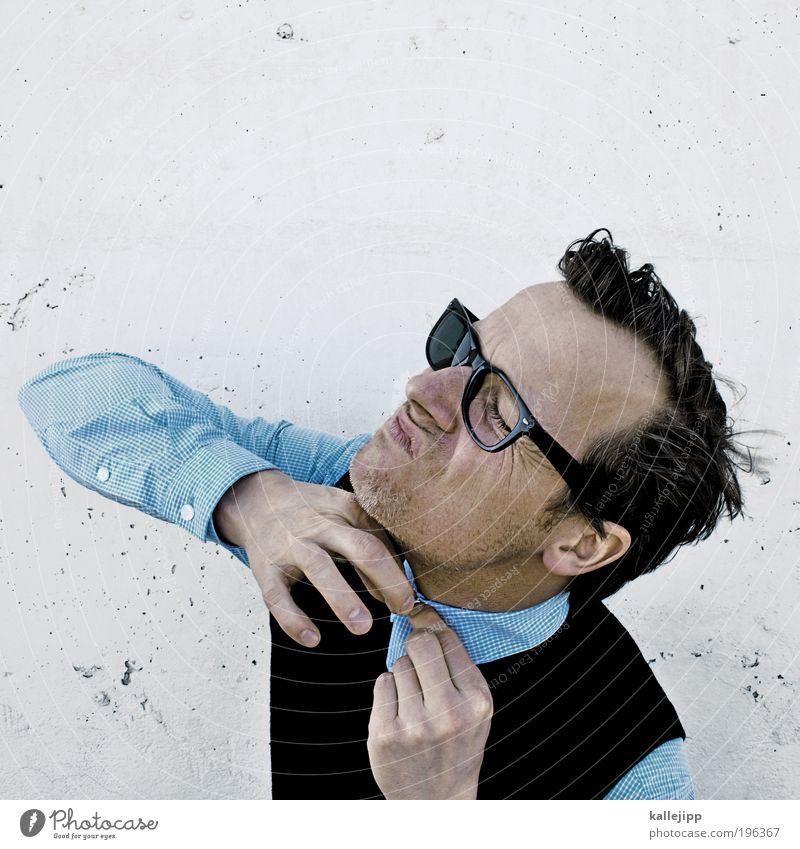 zugeknöpft Lifestyle Design Freizeit & Hobby Mensch maskulin Mann Erwachsene Kopf Haare & Frisuren Gesicht Ohr Nase Mund Lippen Hand Finger 1 30-45 Jahre