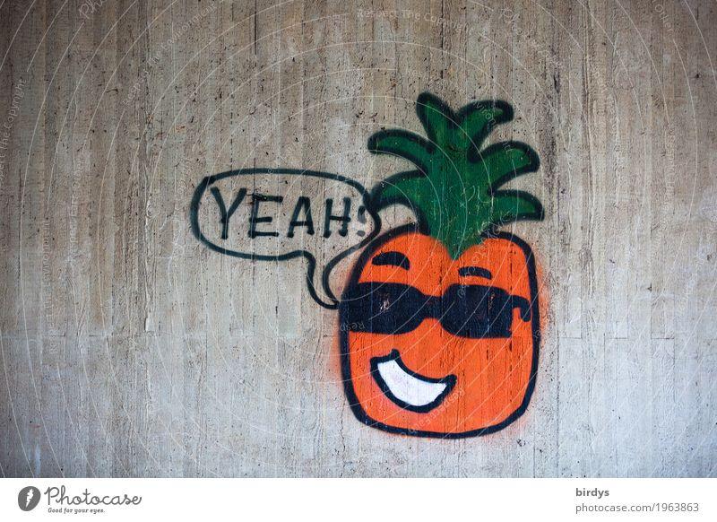Trump - stilsicher wie immer Ananas Jugendkultur Sonnenbrille Haare & Frisuren Beton Schriftzeichen Graffiti Kommunizieren Lächeln sprechen lustig grau grün