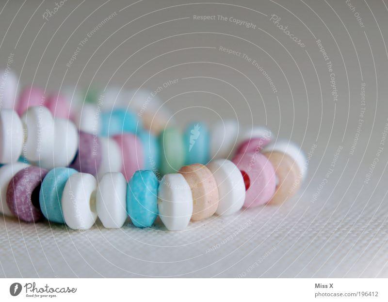 Zuckerkette Ernährung klein Lebensmittel süß rund Schmuck lecker Süßwaren Bonbon Zucker Halskette Accessoire Zuckerperlen
