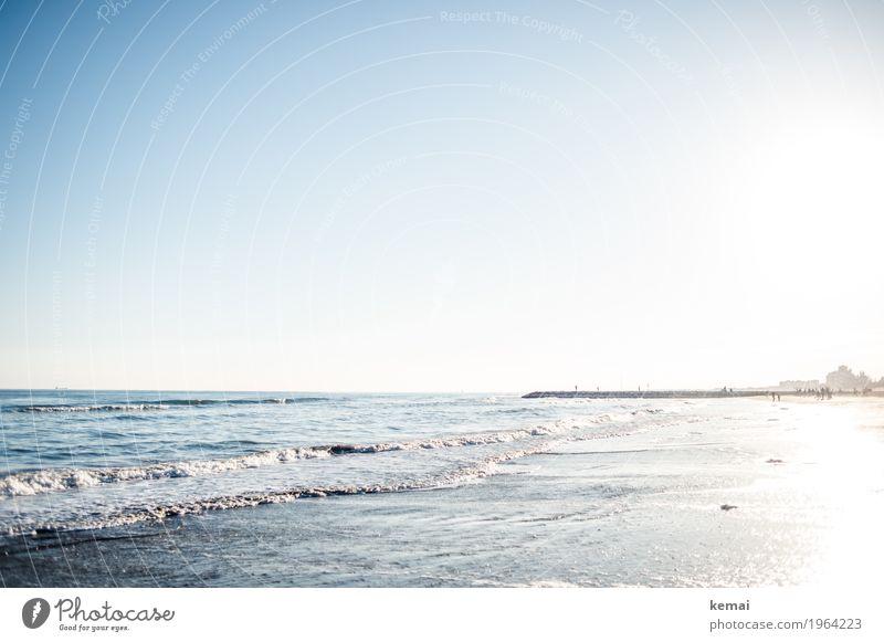 Winter-Lido Natur Ferien & Urlaub & Reisen blau Wasser Landschaft Meer Erholung Einsamkeit ruhig Ferne Strand Umwelt Leben Freiheit Tourismus hell