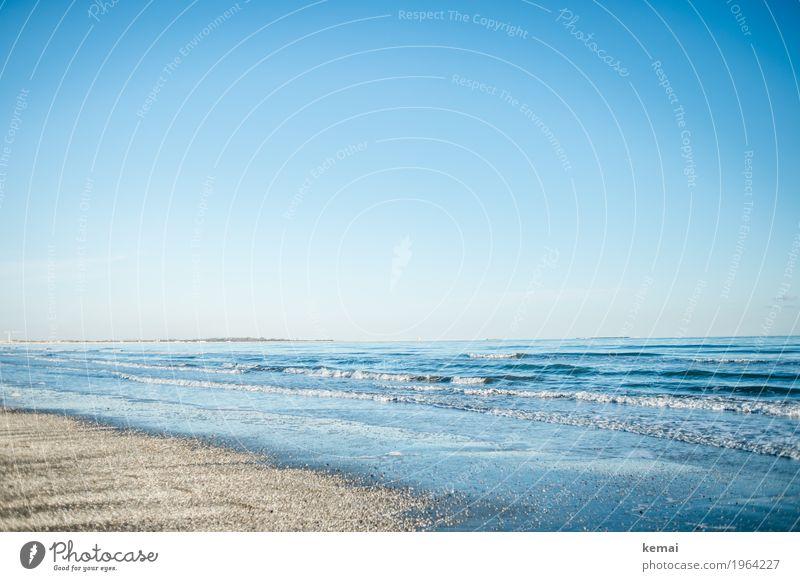 Winterstrand Natur Ferien & Urlaub & Reisen blau Wasser Landschaft Meer Erholung ruhig Ferne Strand Leben Küste Freiheit Tourismus Freizeit & Hobby