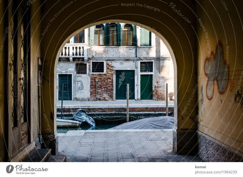 Ende des Weges ruhig Ferien & Urlaub & Reisen Tourismus Ausflug Abenteuer Städtereise Venedig Italien Stadtzentrum Altstadt Menschenleer Haus Mauer Wand Fassade