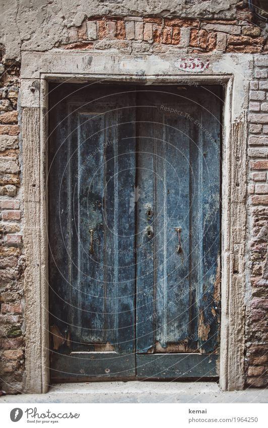 Alt und blau Erholung ruhig Ferien & Urlaub & Reisen Tourismus Ausflug Sightseeing Städtereise Häusliches Leben Venedig Italien Stadtzentrum Altstadt Haus Mauer